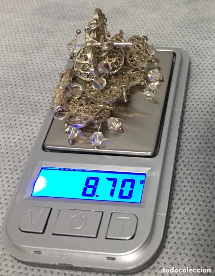 Joyeria: Pendientes de plata de filigrana con Cristal de roca antiguos - Foto 7 - 172794944