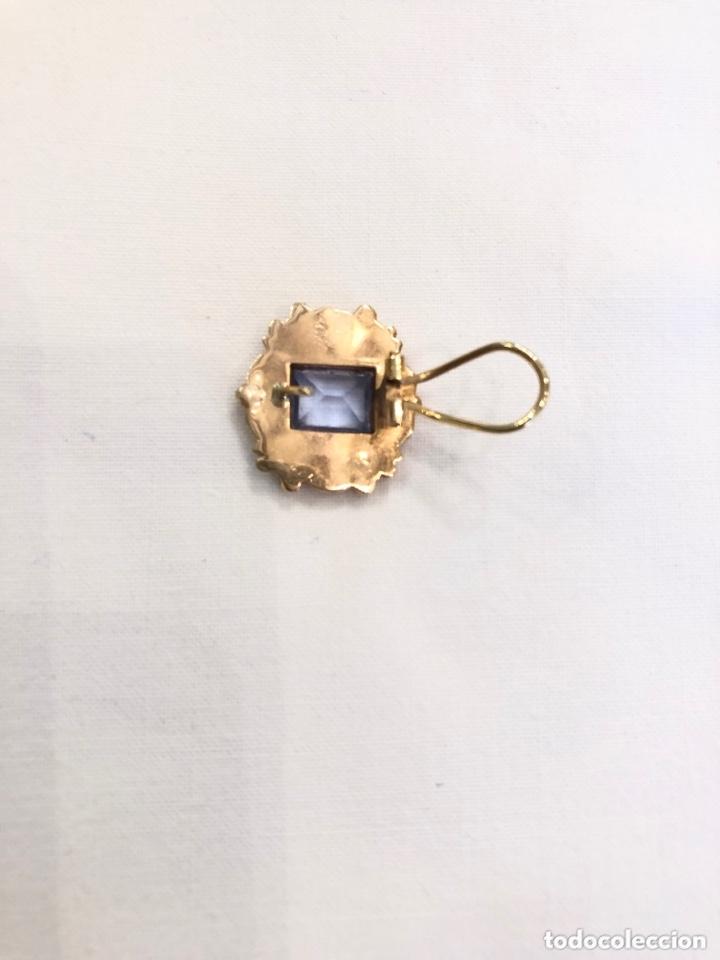 Joyeria: Anillo y pendientes siglo XIX, oro 18 k y aguamarinas - Foto 8 - 172996252