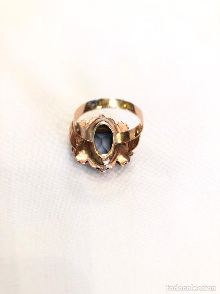 Joyeria: Anillo y pendientes siglo XIX, oro 18 k y aguamarinas - Foto 16 - 172996252