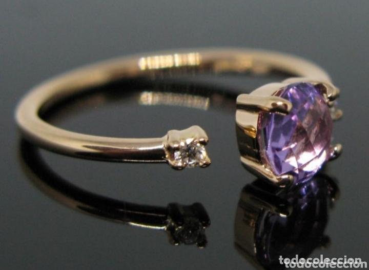 Joyeria: Anillo ORO Rosa 18k Amatista y diamantes. - Foto 2 - 173097822