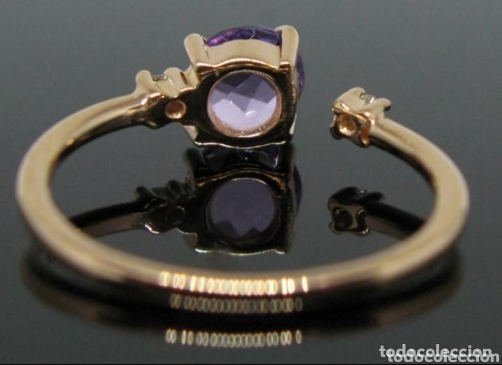 Joyeria: Anillo ORO Rosa 18k Amatista y diamantes. - Foto 4 - 173097822
