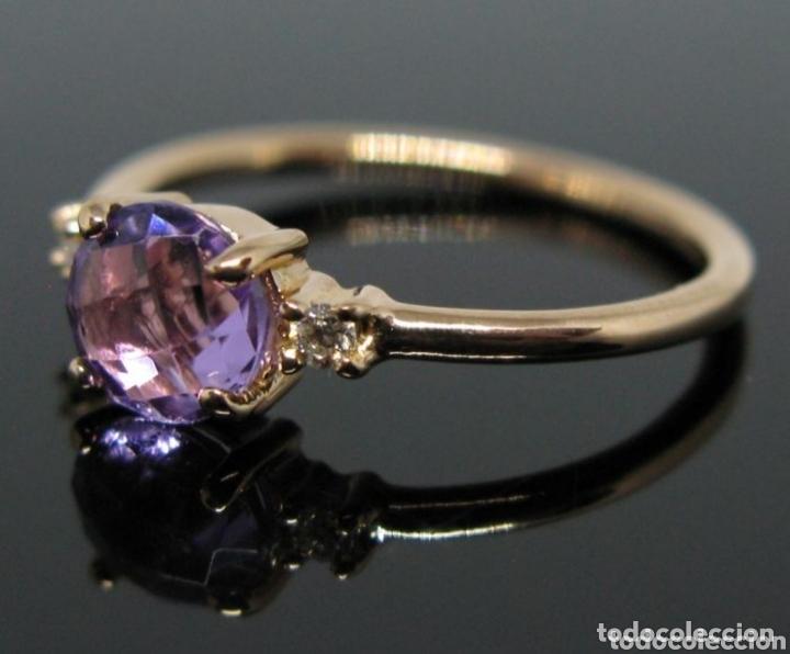 Joyeria: Anillo ORO Rosa 18k Amatista y diamantes. - Foto 6 - 173097822