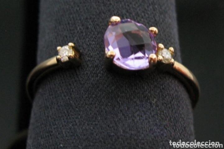 Joyeria: Anillo ORO Rosa 18k Amatista y diamantes. - Foto 7 - 173097822