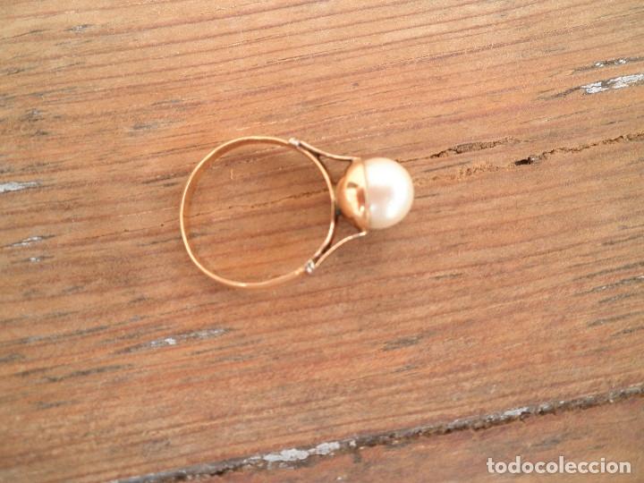 Joyeria: Anillo oro y perla antiguo - Foto 4 - 173123352