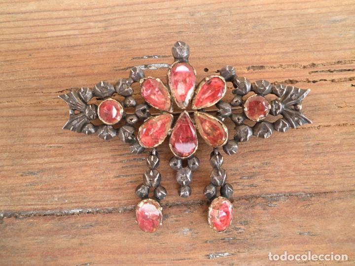 Joyeria: Broche, pendientes y colgante joyeria popular catalana o aragonesa XVIII. PIEZAS DE MUSEO.Regionales - Foto 4 - 173126337