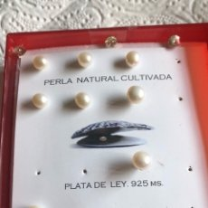 Joyeria: LOTE DE 4 PAREJAS DE PENDIENTES PERLA Y PLATA DE LEY. Lote 173449168