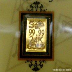 Joyeria: LINGOTE DE ORO 5 GR 99.99 24 KILATES CON CERTIFICADO. Lote 173490909