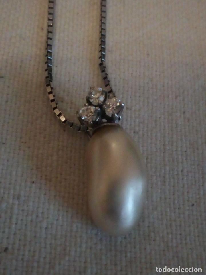 Joyeria: Precioso colgante de plata con una perla cultivada y circonitas,cadena de plata - Foto 2 - 173579434
