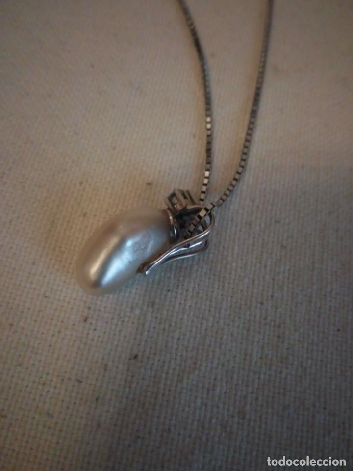 Joyeria: Precioso colgante de plata con una perla cultivada y circonitas,cadena de plata - Foto 4 - 173579434