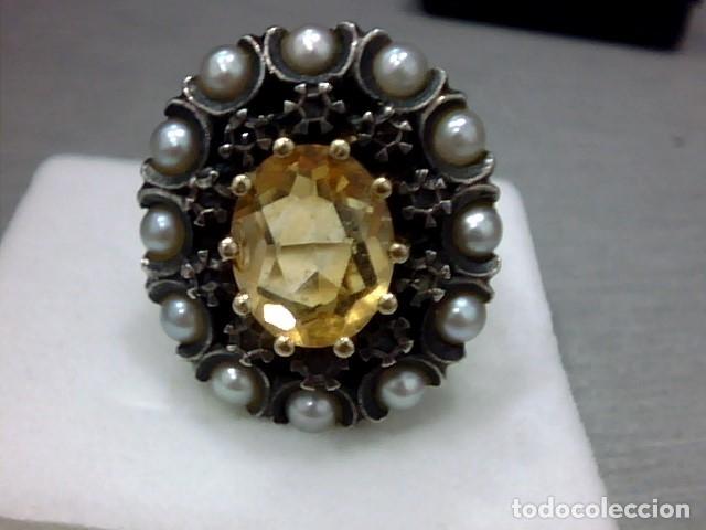 Joyeria: anillo oro 18 kl y topacio - Foto 2 - 174134507