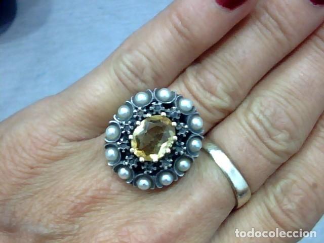 Joyeria: anillo oro 18 kl y topacio - Foto 3 - 174134507