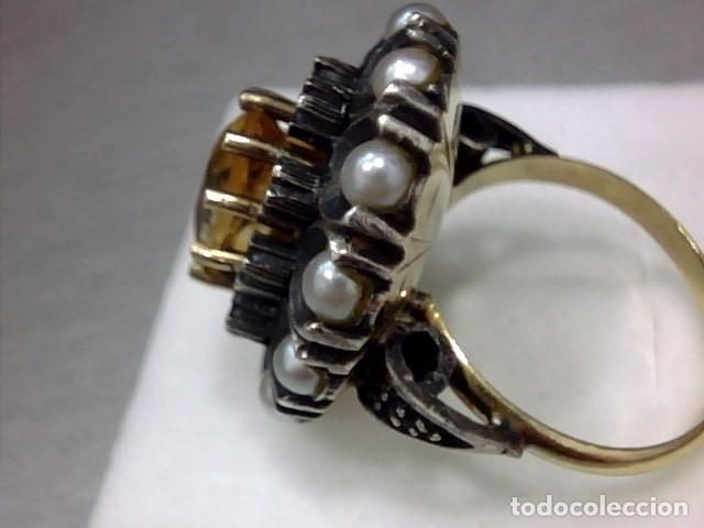 Joyeria: anillo oro 18 kl y topacio - Foto 6 - 174134507