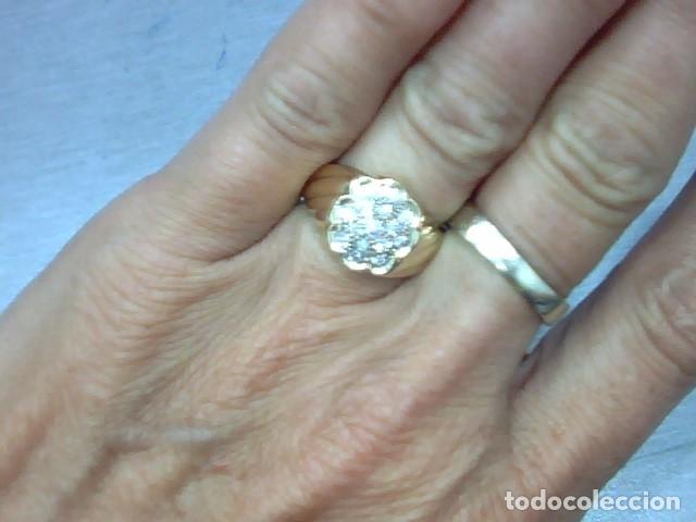 Joyeria: anillo oro 18 kl y diamantes - Foto 3 - 174208525