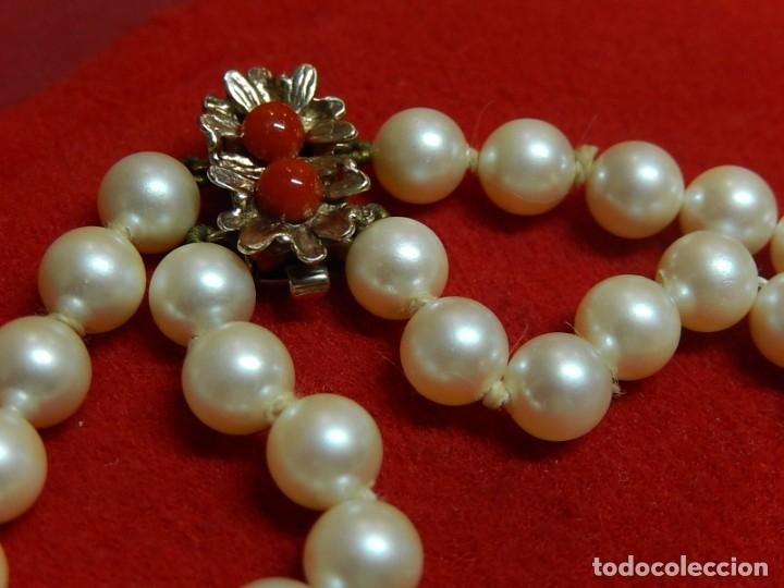 Joyeria: Pulsera de perlas, plata y coral. - Foto 4 - 174535698