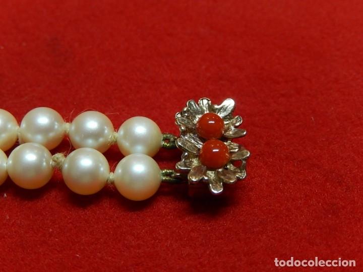Joyeria: Pulsera de perlas, plata y coral. - Foto 6 - 174535698
