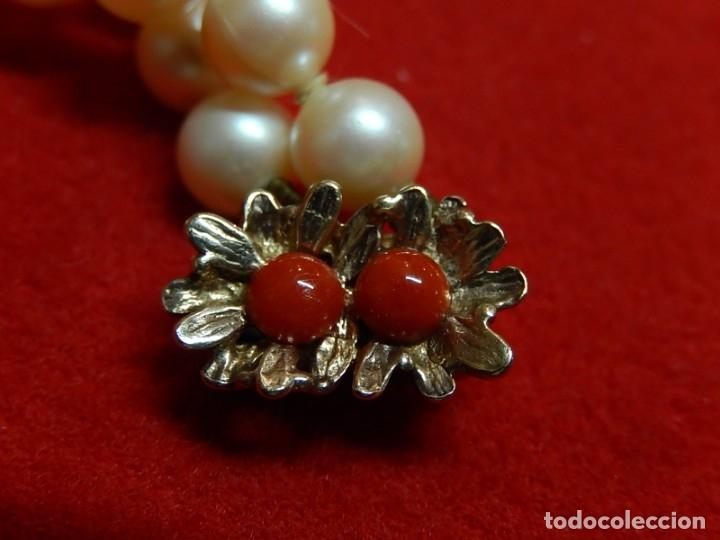 Joyeria: Pulsera de perlas, plata y coral. - Foto 5 - 174535698