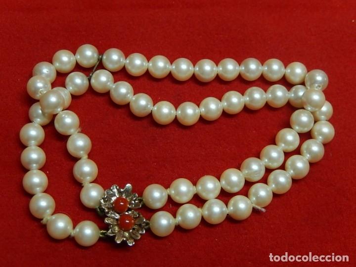 Joyeria: Pulsera de perlas, plata y coral. - Foto 2 - 174535698