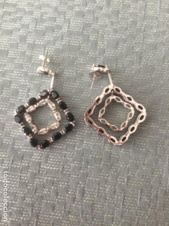 Joyeria: Pendientes de plata, con circonitas y onix, sin estrenar. - Foto 4 - 175155382