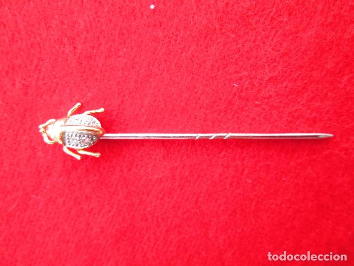 Joyeria: ALFILER- BROCHE DE ORO 18 KILATES BICOLOR CON CIRCONITAS - ESCARABAJO - Foto 2 - 175184765