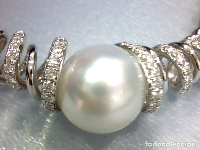 Joyeria: brazalete oro blanco 18 kl,perlas australianas y diamantes - Foto 10 - 175212994