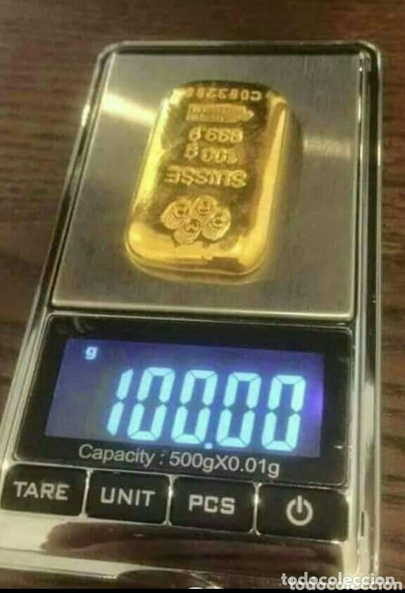 LINGOTE DE ORO 100 GRS. 24K PURO 999,9/1.000 !! IDEAL INVERSIÓN !! LEER .... (Joyería - Varios)