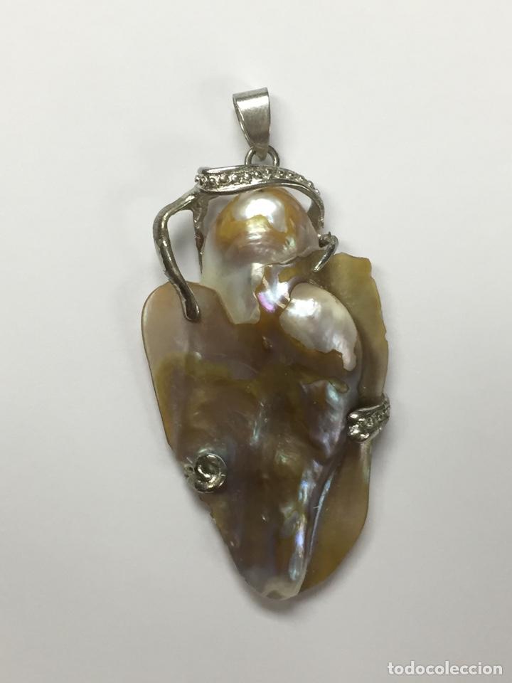 Joyeria: Colgante madre perla y metal plateado - Foto 5 - 175405429