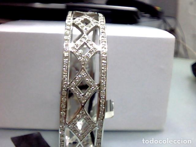 Joyeria: brazalete oro blanco 18kl y diamantes - Foto 2 - 175582714