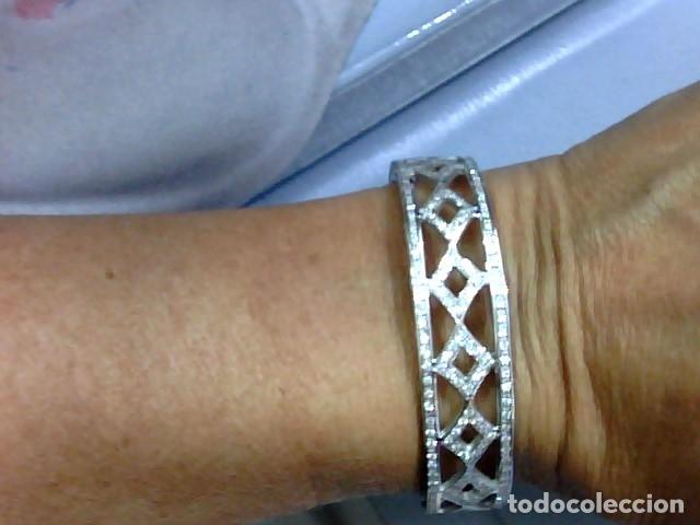 Joyeria: brazalete oro blanco 18kl y diamantes - Foto 3 - 175582714