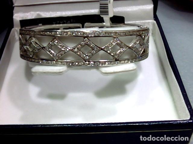 Joyeria: brazalete oro blanco 18kl y diamantes - Foto 4 - 175582714