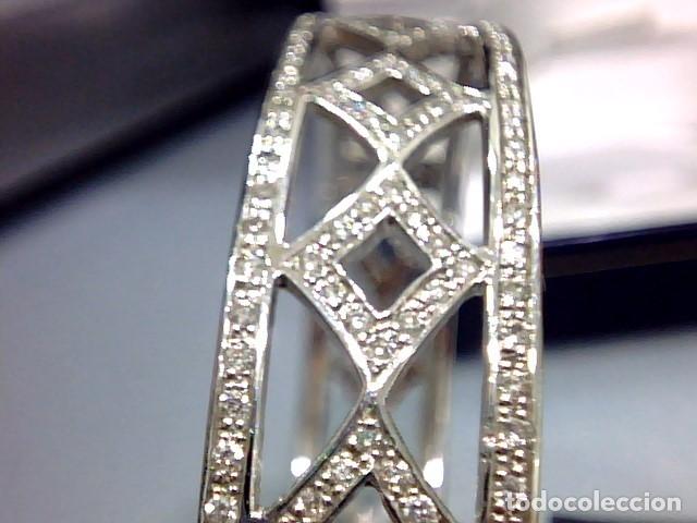 Joyeria: brazalete oro blanco 18kl y diamantes - Foto 8 - 175582714