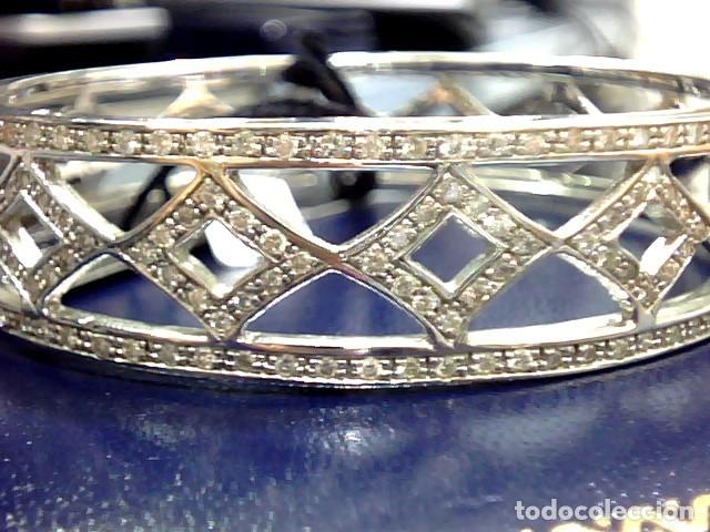 Joyeria: brazalete oro blanco 18kl y diamantes - Foto 9 - 175582714