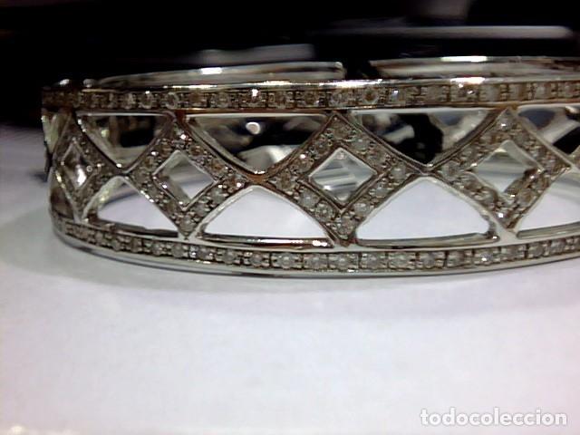 Joyeria: brazalete oro blanco 18kl y diamantes - Foto 10 - 175582714