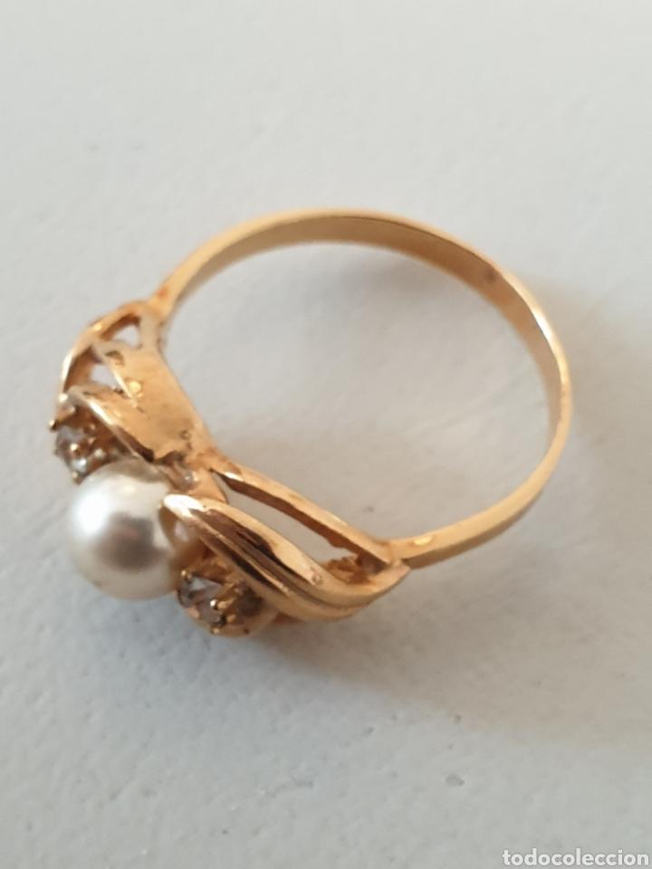 Joyeria: Precioso anillo de diseño plata de ley antiguo con baño de oro - Foto 2 - 176121573