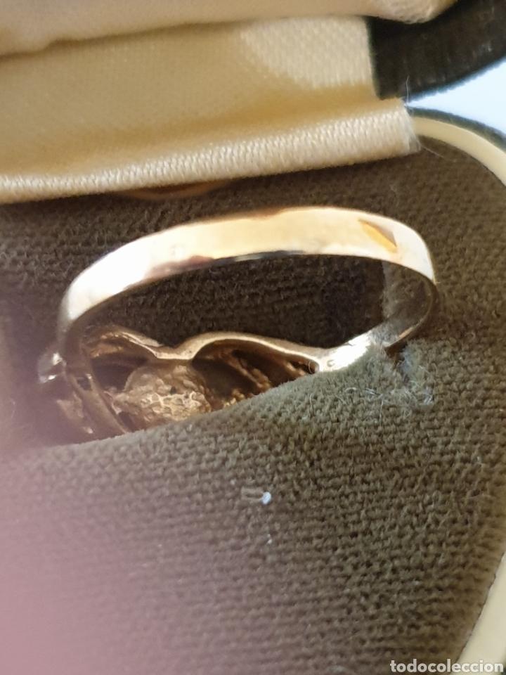 Joyeria: Precioso anillo de diseño plata de ley antiguo con baño de oro - Foto 3 - 176121573