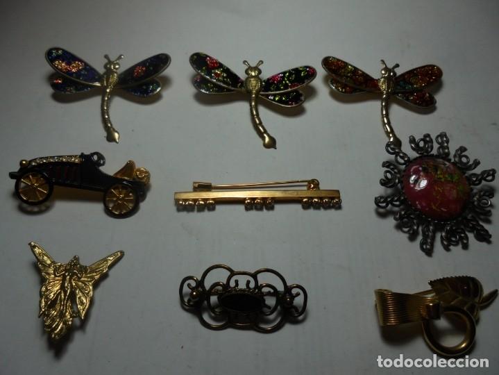 Joyeria: magnifica coleccion de 40 broches antiguos vintage de aguja de los años 60-70 - Foto 2 - 176195728