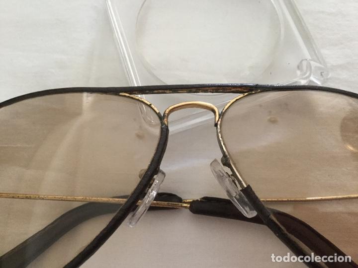 Joyeria: Hermosos Ray Ban vintage forrado en cuero de oro o con muchos micrones - Foto 3 - 176276624
