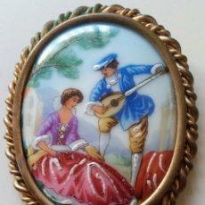 Joyeria: BROCHE/CAMAFEO PORCELANA LIMOGES. Lote 176286007