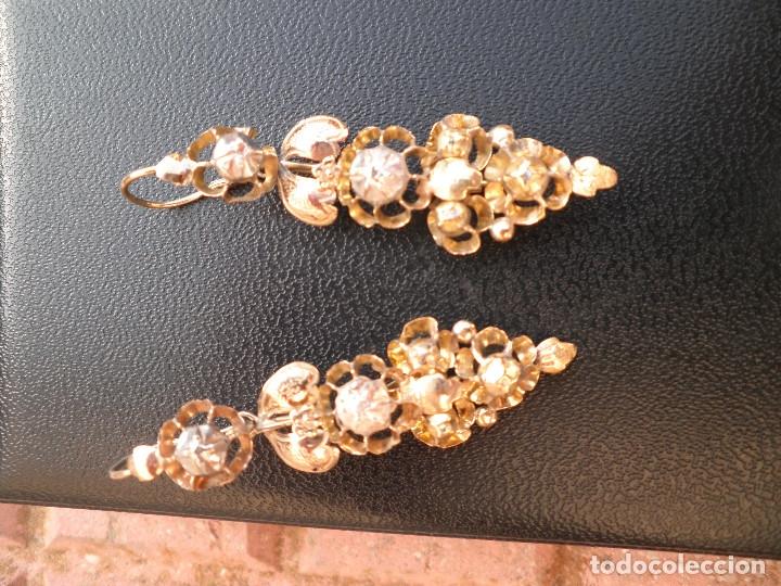Joyeria: Pendientes isabelinos oro XIX antiguos - Foto 14 - 176580240