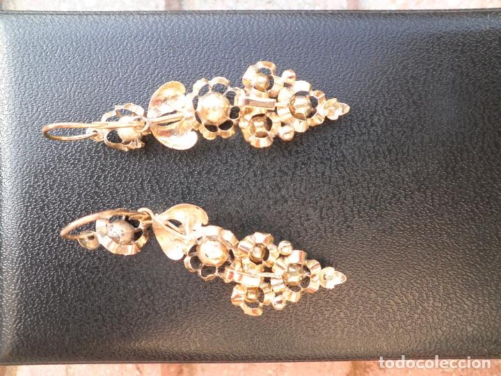 Joyeria: Pendientes isabelinos oro XIX antiguos - Foto 15 - 176580240