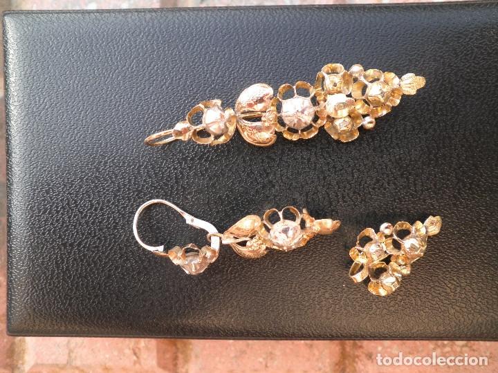 Joyeria: Pendientes isabelinos oro XIX antiguos - Foto 17 - 176580240