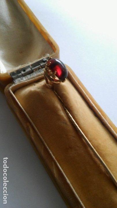 Joyeria: Antigua aguja alfiler corbata victoriano plaque oro con cabujón y estuche s XIX XX - Foto 14 - 176769720