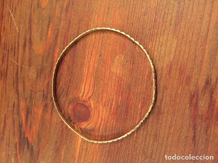 Joyeria: Antigua pulsera / esclava / brazalete de bisuteria de mujer de metal dorado años 60-70 - Foto 4 - 176860609