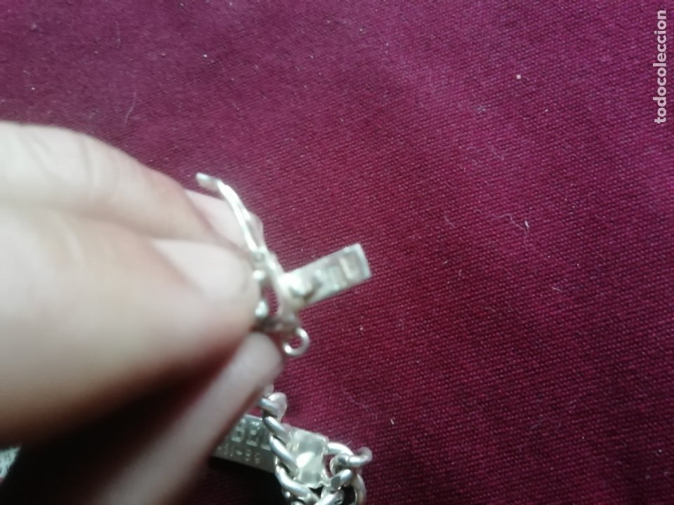 Joyeria: Pulsera de plata contrastada de 925. Grabado nombre FLORENCI, FLORENCIO. 28,2 gramos - Foto 2 - 176877483