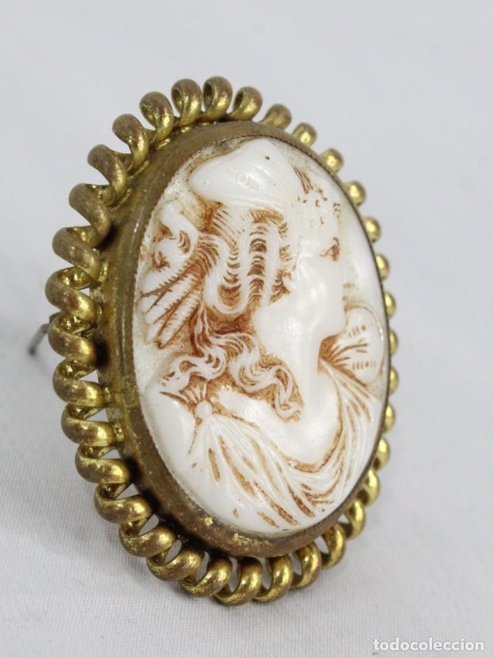 Joyeria: Antiguo broche camafeo tallado de opalina Pps del s XX - Foto 2 - 177174760