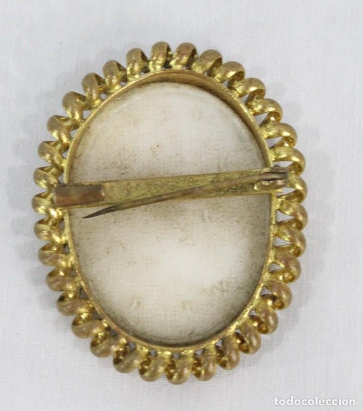 Joyeria: Antiguo broche camafeo tallado de opalina Pps del s XX - Foto 4 - 177174760