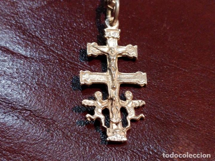 Joyeria: Cruz de Caravaca con cadena, plata 925 - 5.5g y 60cm abierta - Foto 2 - 177263657