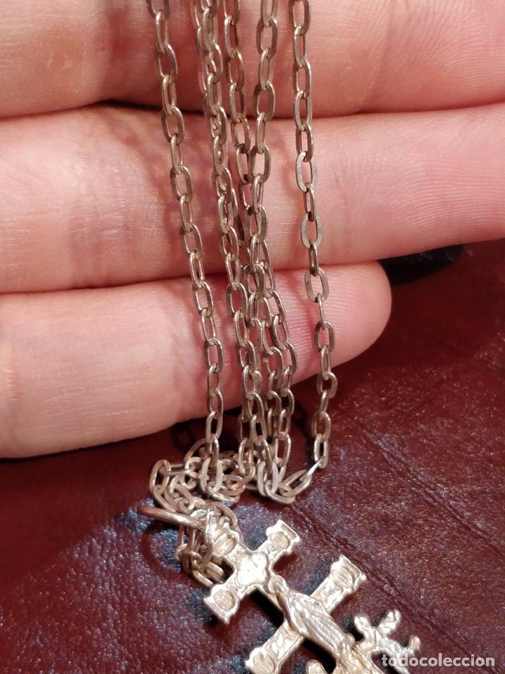 Joyeria: Cruz de Caravaca con cadena, plata 925 - 5.5g y 60cm abierta - Foto 5 - 177263657