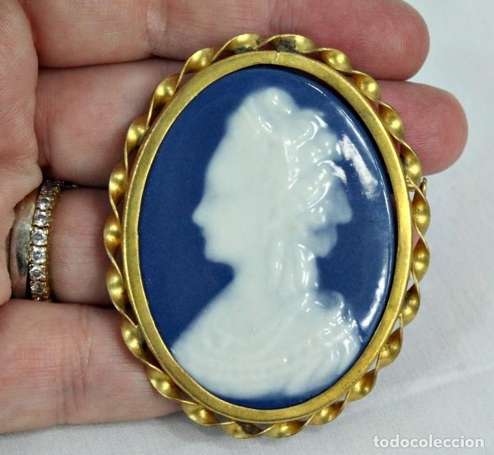 Joyeria: Broche pps s XX en porcelana de Limoges, Lanternier Limoges. - Foto 3 - 177473278