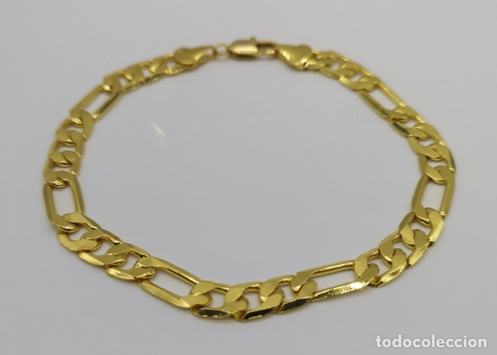Joyeria: Elegante pulsera de caballero chapada en oro de 14k de diseño clasico . - Foto 4 - 177504708