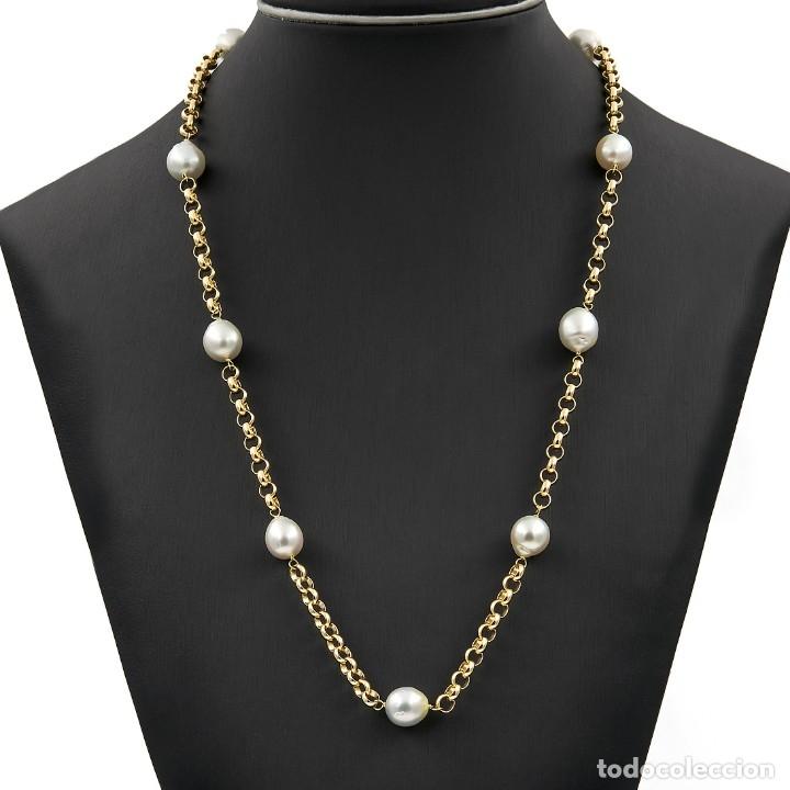 Joyeria: Collar de Perlas Australianas de los Mares del Sur y Oro 18 kt - Foto 2 - 177860558